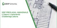 SRIP PSiDL je predlagal amandmaje k Zakonu o spremembi Gradbenega zakona